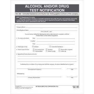 ALCOHOL & DRUG FORMS