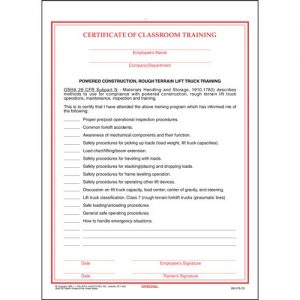 TRAINING FORMS